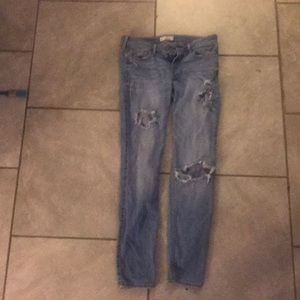 Light ripped hollister jeans